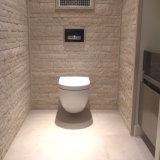 Natuursteen steenstrips toilet Jan Reek Hoorn