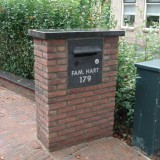 Nummerbord en brievenbus