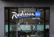 Gevel en interieur radisson Blu Amsterdam