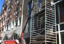 Gevelbekleding hotel Prinsengracht Amsterdam